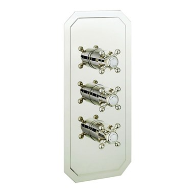 Crosswater Belgravia Crosshead 2 Outlet Concealed Thermostatic Shower Valve